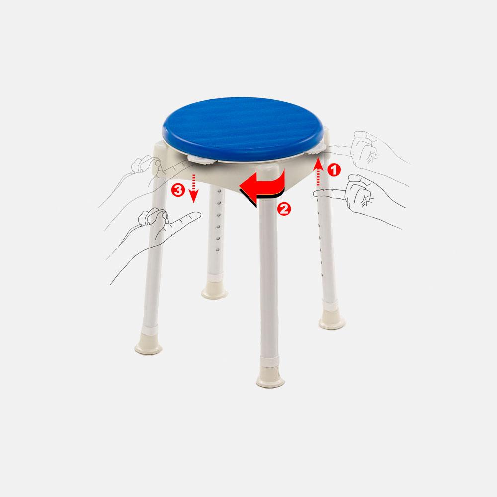 Сиденье для ванны Violet (табурет) поворотное LY-1012